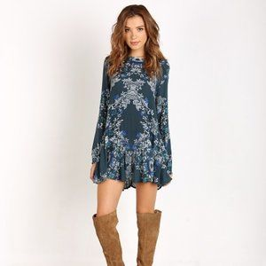 Free People Green Smooth Talker Floral Tunic M